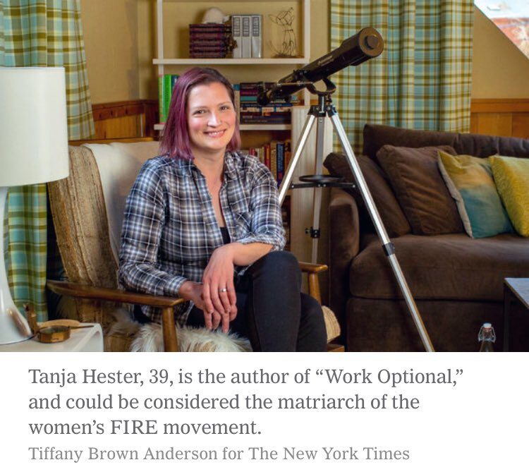 The photo and caption from the NYT story // The 4% Rule Is Not Your Friend for Early Retirement Savings // ournextlife.com, Tanja Hester, author of Work Optional: Retire Early the Non-Penny-Pinching Way, financial independence, FIRE movement